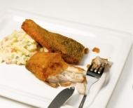 Štědrovečerní večeře, kapr a salát