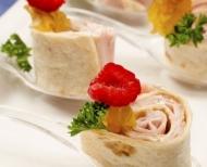 Valentýnské menu recept na rolky se šunkou.